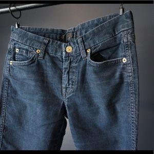 7FAMK A pocket flare in dark blue corduroy! GREAT!
